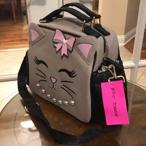 Betsey Johnson Bags - Betsey Johnson Insulated Kitty Lunch Tote